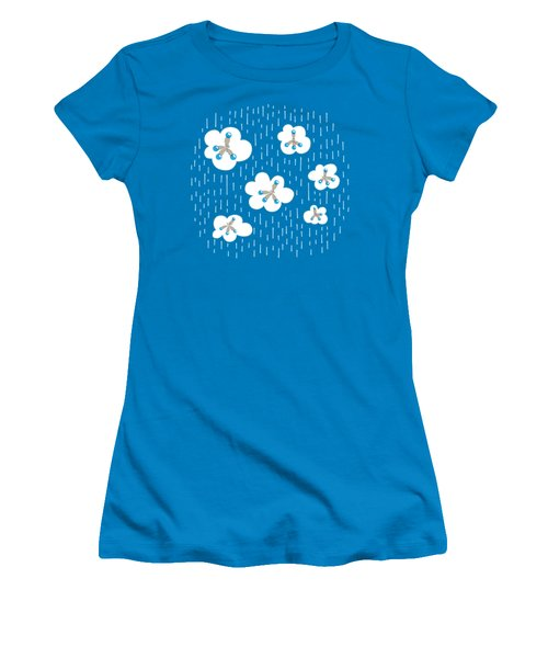 Clouds And Methane Molecules Pattern Women's T-Shirt (Athletic Fit)