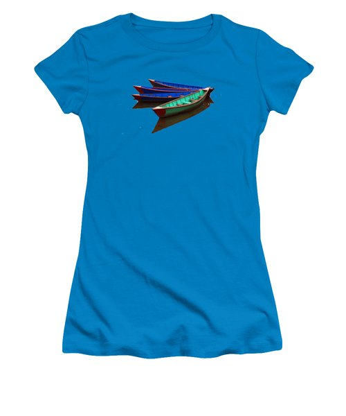 Women's T-Shirt (Junior Cut) featuring the photograph Colourful Fishing Boats  by Aidan Moran
