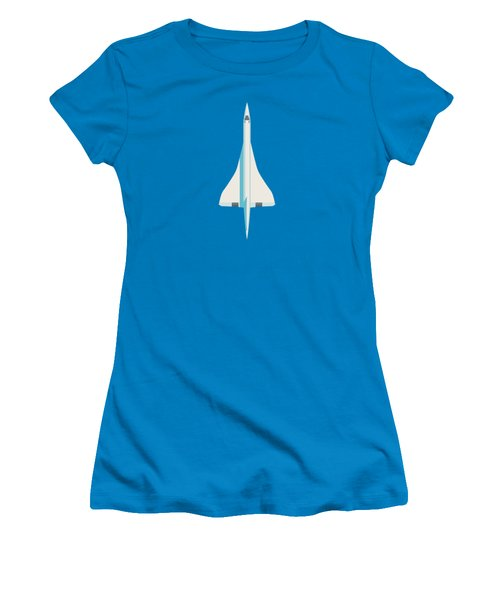 Concorde Jet Airliner - Blue Women's T-Shirt (Athletic Fit)