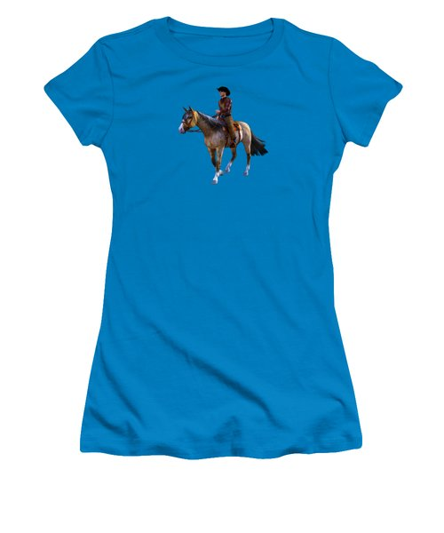 Women's T-Shirt (Junior Cut) featuring the digital art Cowboy Blue by Methune Hively