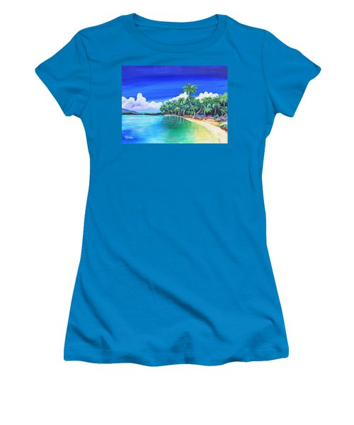 Crescent Beach Women's T-Shirt (Junior Cut) by Patricia Piffath