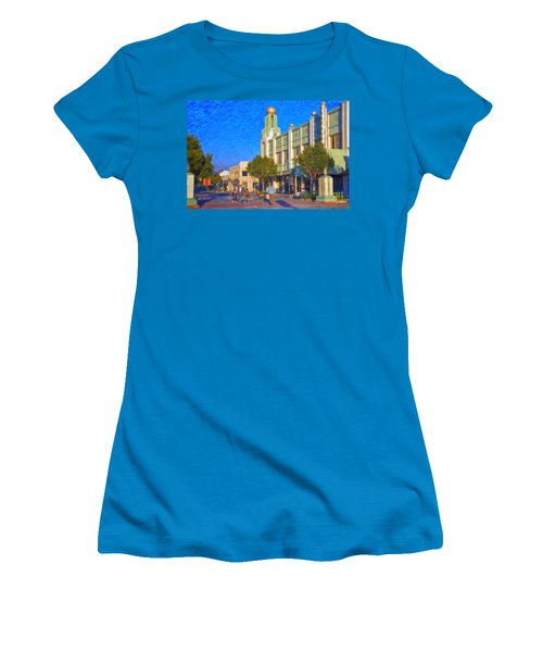 Culver City Plaza Theaters   Women's T-Shirt (Junior Cut) by David Zanzinger