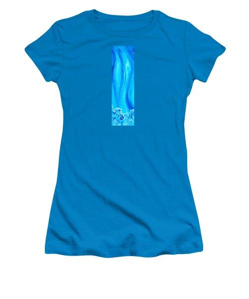 Women's T-Shirt (Junior Cut) featuring the painting Cy Lantyca 30 by Cyryn Fyrcyd