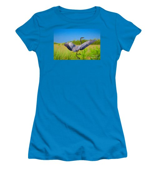 Dancing In The Glades Women's T-Shirt (Athletic Fit)