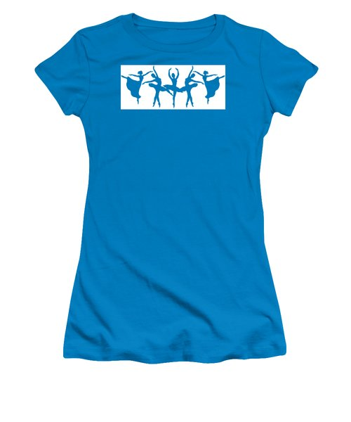 Dancing Silhouettes  Women's T-Shirt (Athletic Fit)