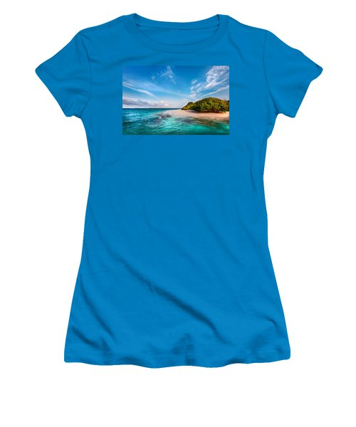 Women's T-Shirt (Junior Cut) featuring the photograph Deserted Maldivian Island by Jenny Rainbow
