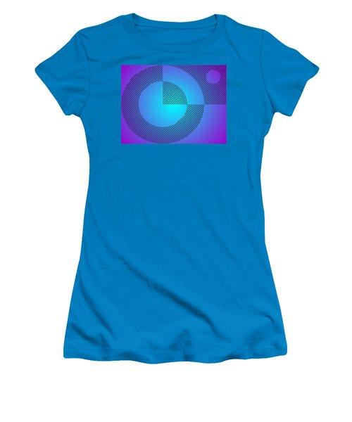 Digital Abstract Art 001 A Women's T-Shirt (Junior Cut) by Larry Capra