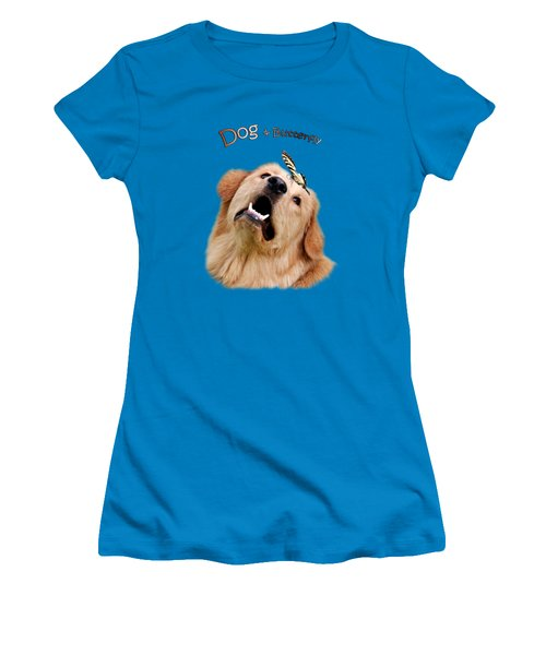 Dog And Butterfly Women's T-Shirt (Athletic Fit)