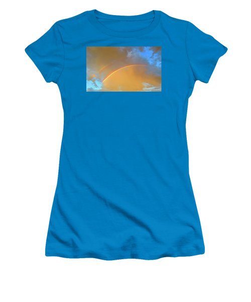Double Rainbows In The Desert Women's T-Shirt (Athletic Fit)