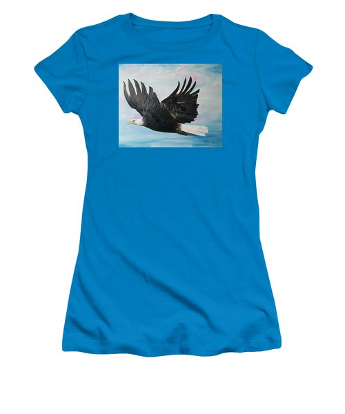 Eagle On A Mission      11 Women's T-Shirt (Athletic Fit)
