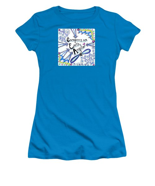 Earth Angel Women's T-Shirt (Junior Cut) by Carole Brecht