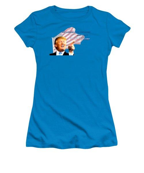 Elect Trump Women's T-Shirt (Junior Cut) by EricaMaxine  Price