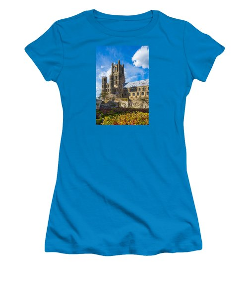 Ely Cathedral And Garden Women's T-Shirt (Athletic Fit)