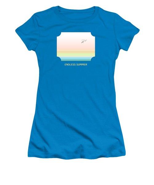 Endless Summer - Blue Women's T-Shirt (Junior Cut) by Gill Billington