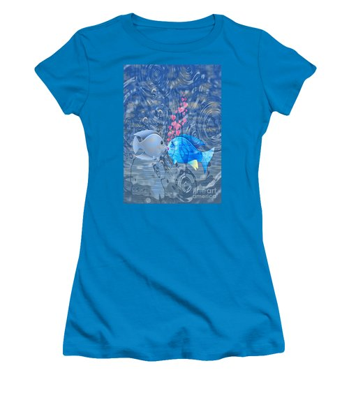 Fish In Love Women's T-Shirt (Athletic Fit)