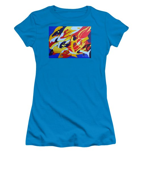 Fish Shoal Abstract 2 Women's T-Shirt (Athletic Fit)