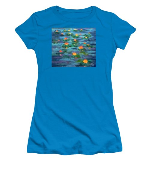 Women's T-Shirt (Junior Cut) featuring the painting Floating Gems by Holly Martinson
