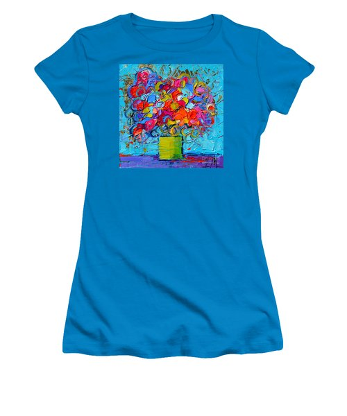 Floral Miniature - Abstract 0415 Women's T-Shirt (Athletic Fit)