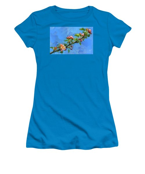 Flowering Apple Branch Women's T-Shirt (Athletic Fit)