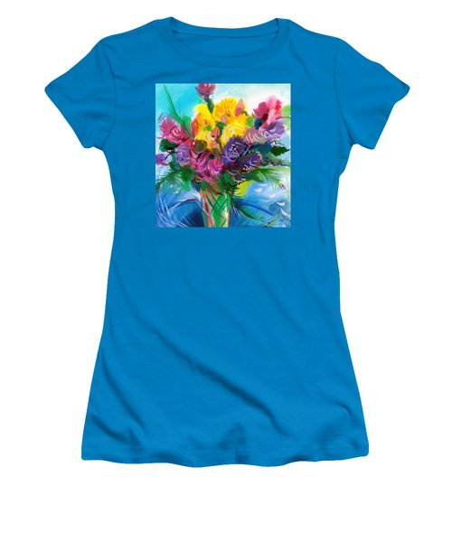 Flowers For My Jesus Women's T-Shirt (Junior Cut) by Karen Showell