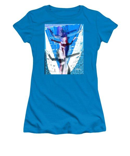 Four Blue Angels Women's T-Shirt (Junior Cut) by Seth Weaver