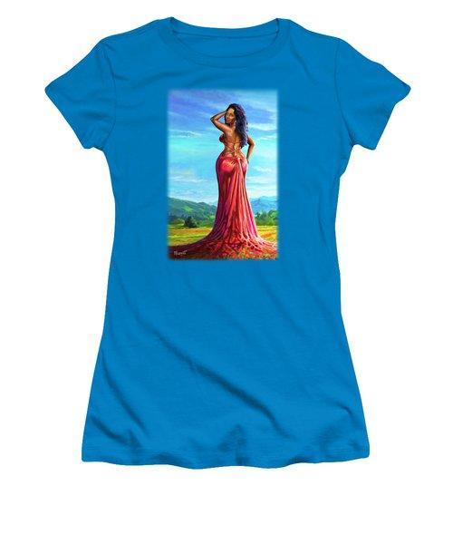 Summer Blossom Women's T-Shirt (Junior Cut) by Anthony Mwangi
