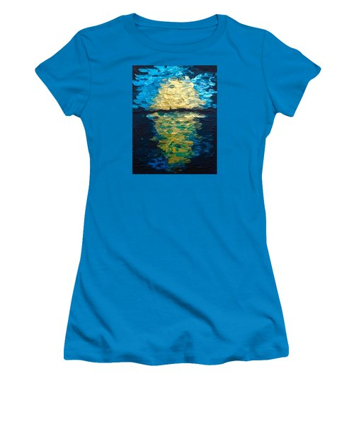 Golden Moon Reflection Women's T-Shirt (Athletic Fit)