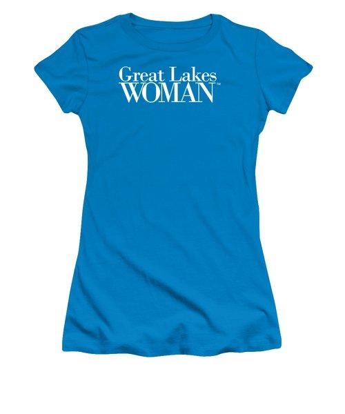 Great Lakes Woman White Logo Women's T-Shirt (Athletic Fit)
