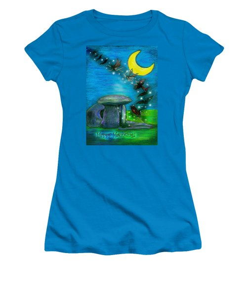 Happy Haunting Women's T-Shirt (Athletic Fit)