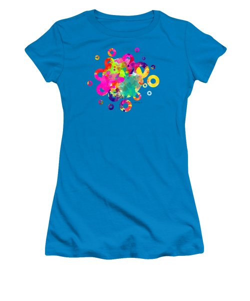 Happy Rings - Tee Shirt Design Women's T-Shirt (Junior Cut) by Debbie Portwood