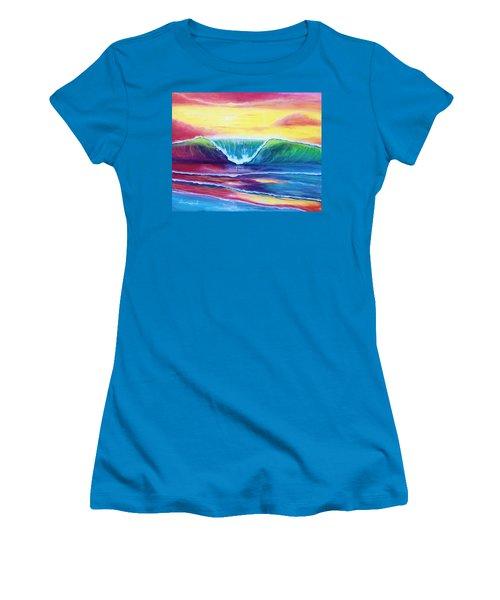 Happy Wave Women's T-Shirt (Athletic Fit)