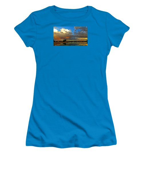 Women's T-Shirt (Junior Cut) featuring the photograph Harper Lake by Eric Dee