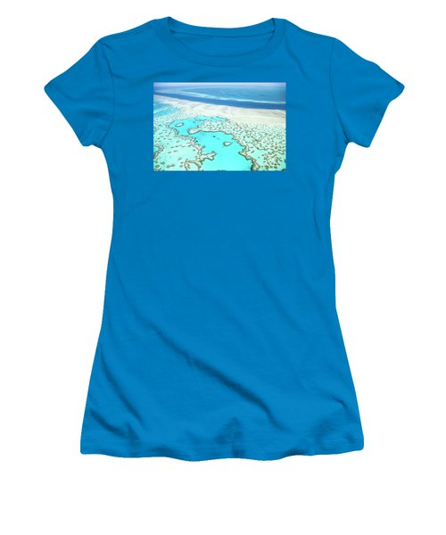 Heart Reef Women's T-Shirt (Junior Cut) by Az Jackson