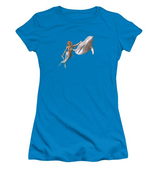 Hitching A Ride Women's T-Shirt (Junior Cut) by Methune Hively