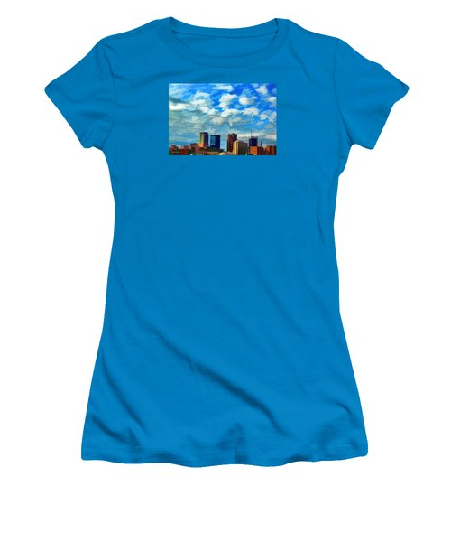 Huntsville Alabama Skyline Abstract Art Women's T-Shirt (Athletic Fit)