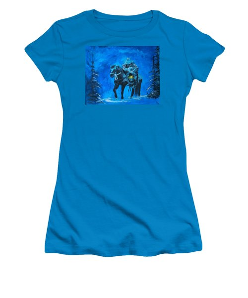 Women's T-Shirt (Junior Cut) featuring the painting I Will Carry You by Leslie Allen