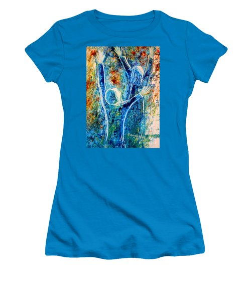I Will Praise You In The Storm Women's T-Shirt (Athletic Fit)
