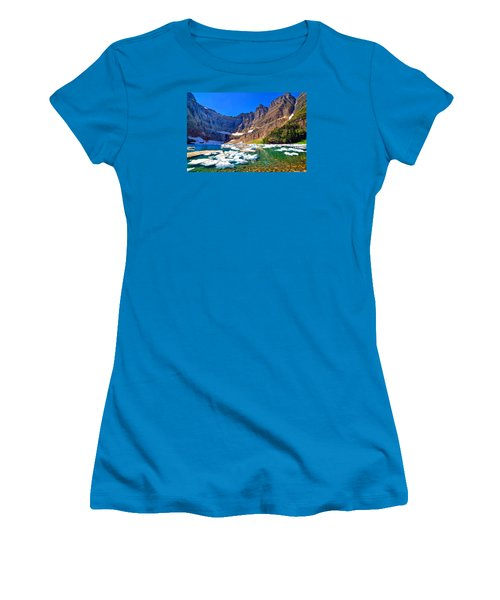 Women's T-Shirt (Junior Cut) featuring the photograph Iceberg Lake by Greg Norrell