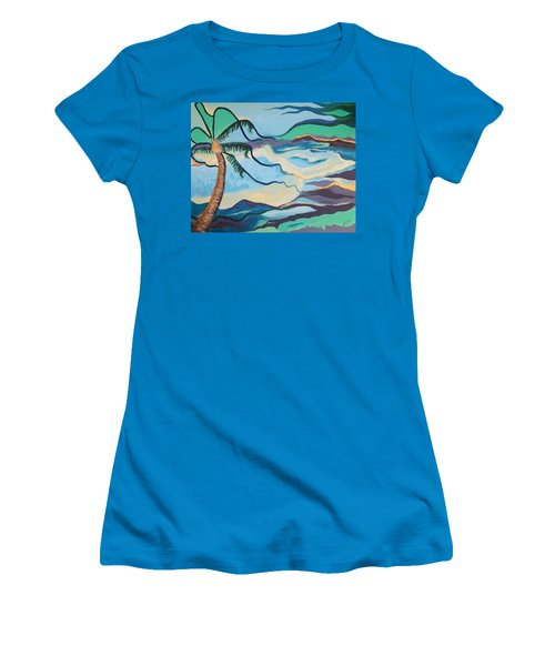 Jamaican Sea Breeze Women's T-Shirt (Junior Cut) by Jan Steinle