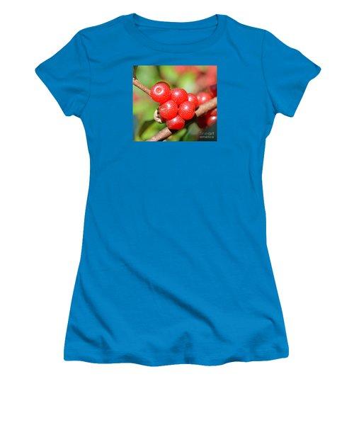 Juicy Red Women's T-Shirt (Junior Cut) by Lew Davis