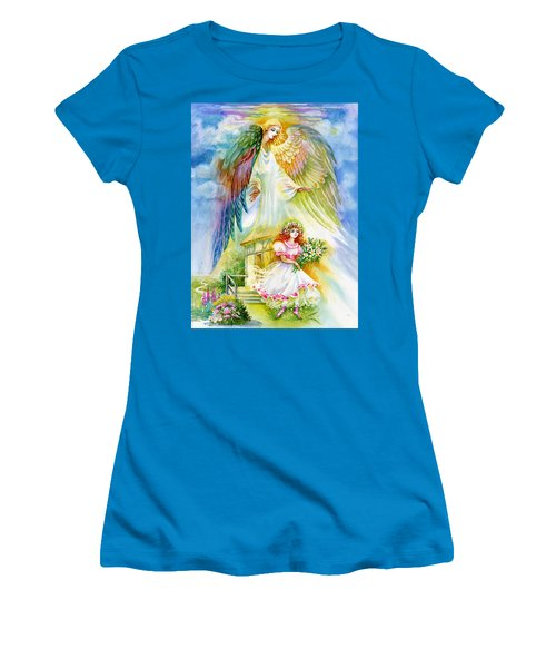 Keep Her Safe Lord Women's T-Shirt (Junior Cut) by Karen Showell