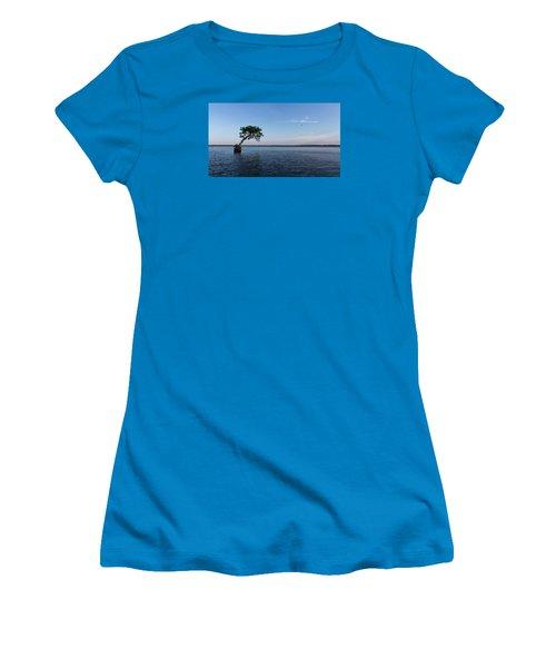 Lake Disston Cypress #2 Women's T-Shirt (Junior Cut) by Paul Rebmann