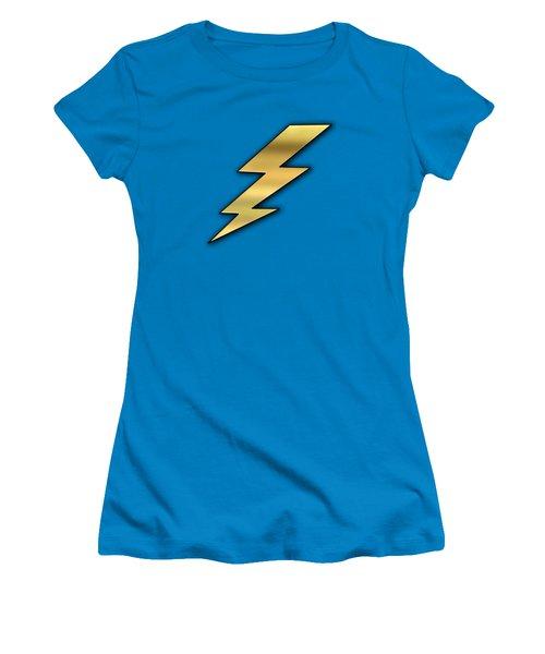 Women's T-Shirt (Junior Cut) featuring the digital art Lightning Transparent by Chuck Staley