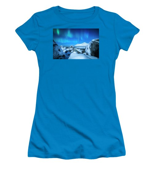 Lofoten Aurora Women's T-Shirt (Athletic Fit)
