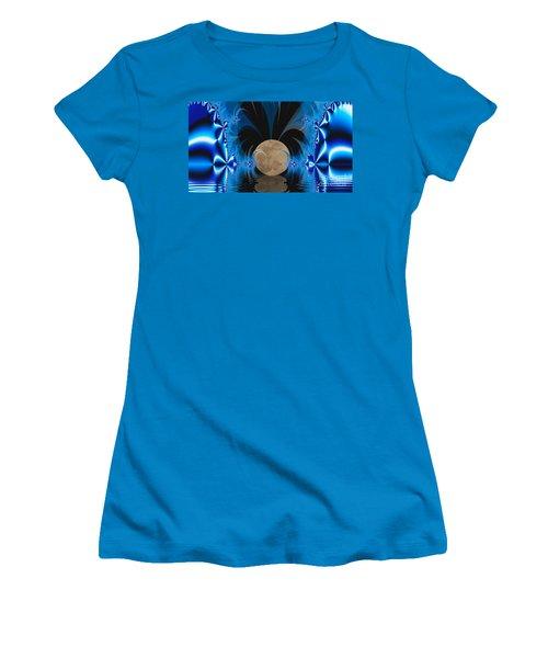 Magic Moon Women's T-Shirt (Junior Cut) by Geraldine DeBoer