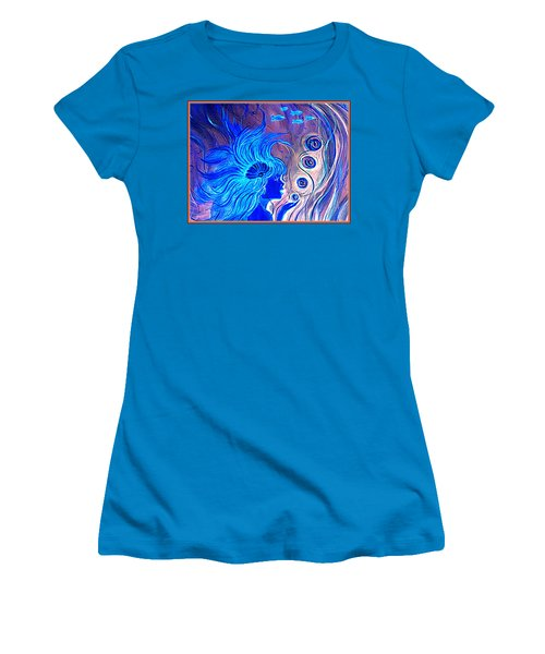 Women's T-Shirt (Junior Cut) featuring the painting Maremaid  by Yolanda Rodriguez