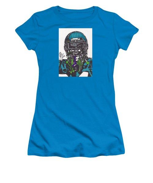 Marshawn Lynch 1 Women's T-Shirt (Junior Cut) by Jeremiah Colley