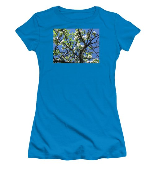 Mn Apple Blossoms Women's T-Shirt (Junior Cut) by Barbara Yearty