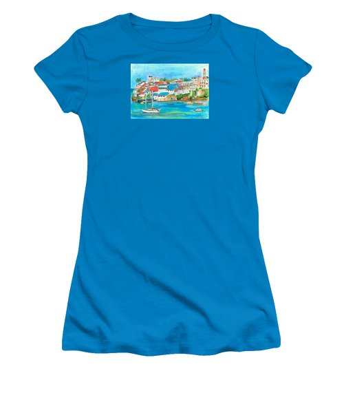 Mombasa Town Women's T-Shirt (Athletic Fit)