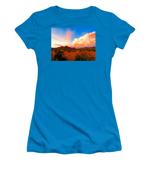 Monsoon Storm Sunset Women's T-Shirt (Athletic Fit)